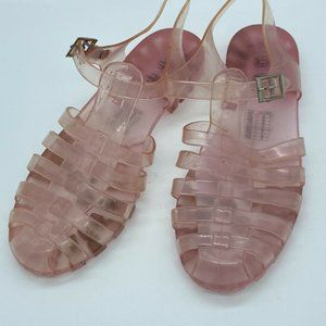 Forever 21 Pink Jelly Sandals Girls Small